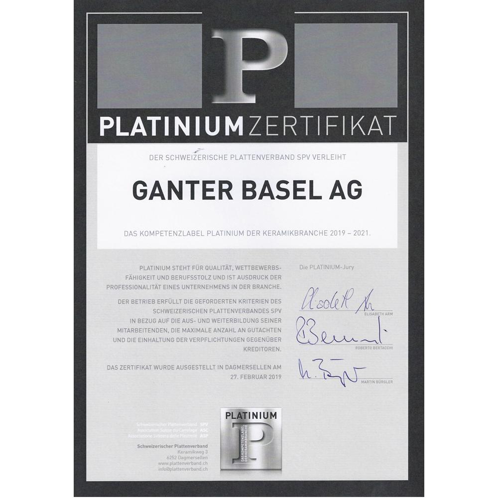 Platinium Zertifikat